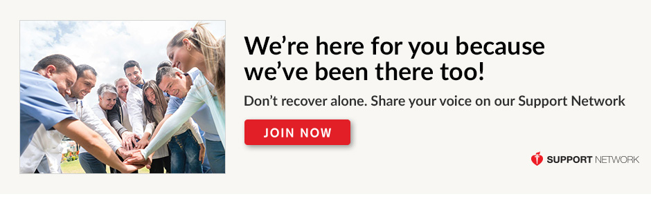 We're here for you because we've been there too. Don't recover alone. Share your voice on our Support Network. Join now.