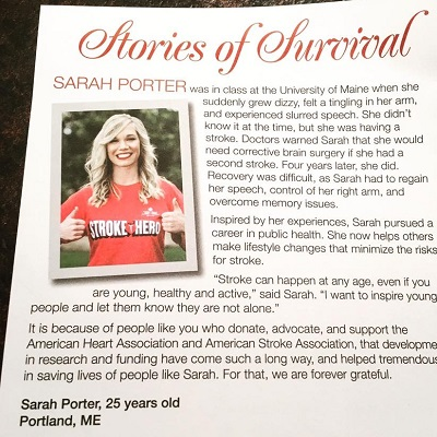 Sarah Porter's Story