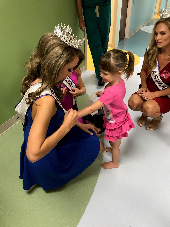Haley with Children
