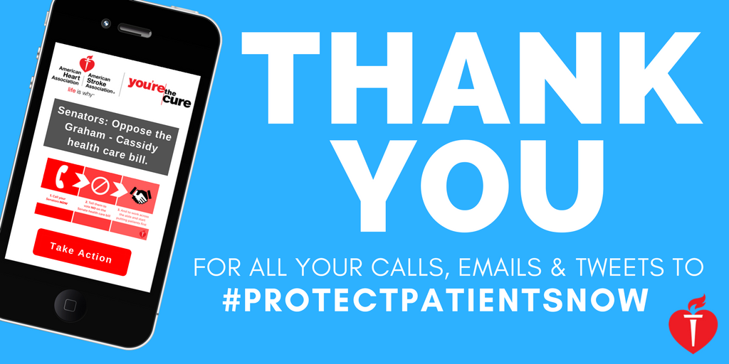 Thank you for all your calls, emails and tweets to #ProtectPatientsNow