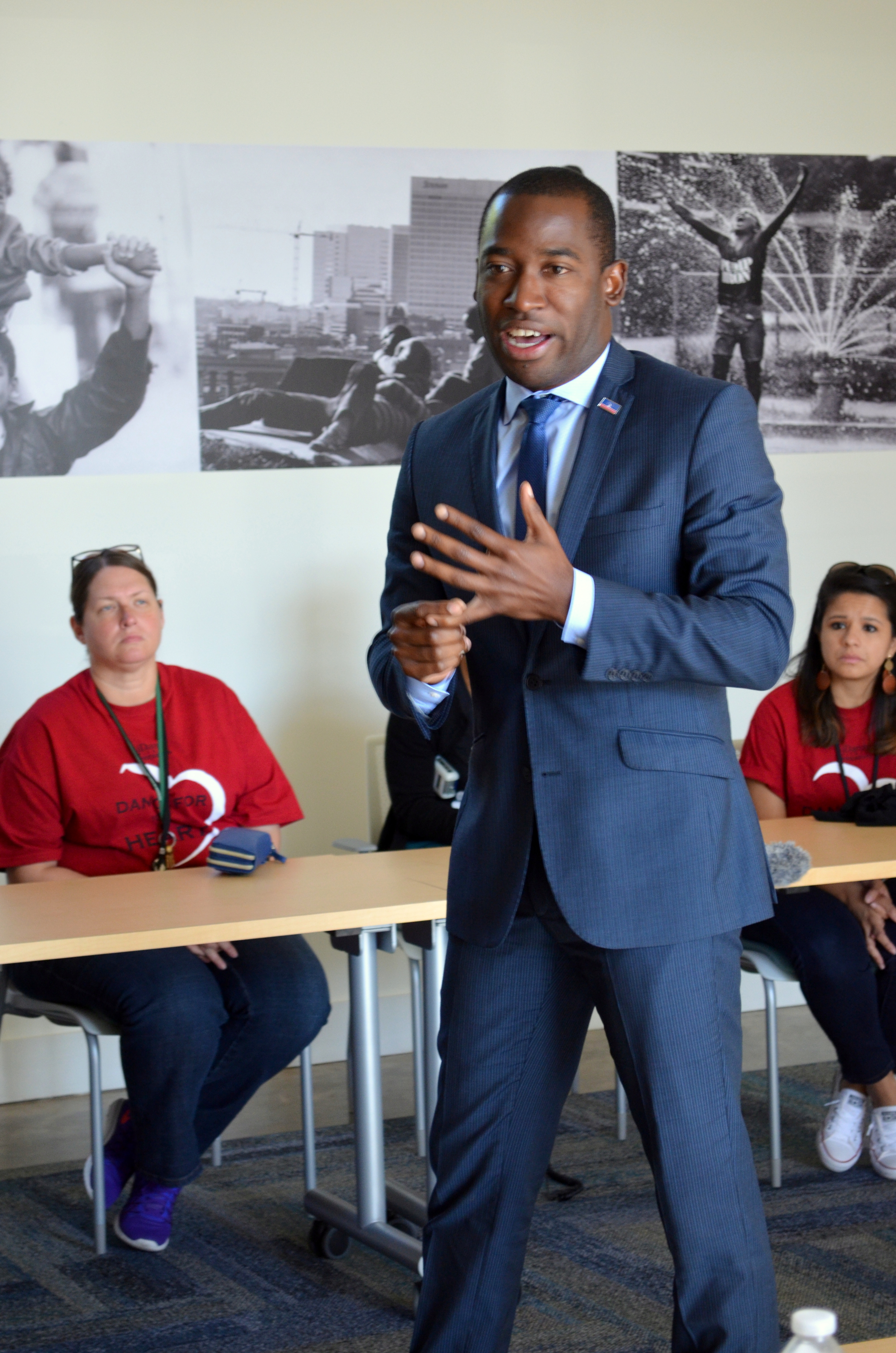 Richmond Mayor Levar Stoney addressed the group.