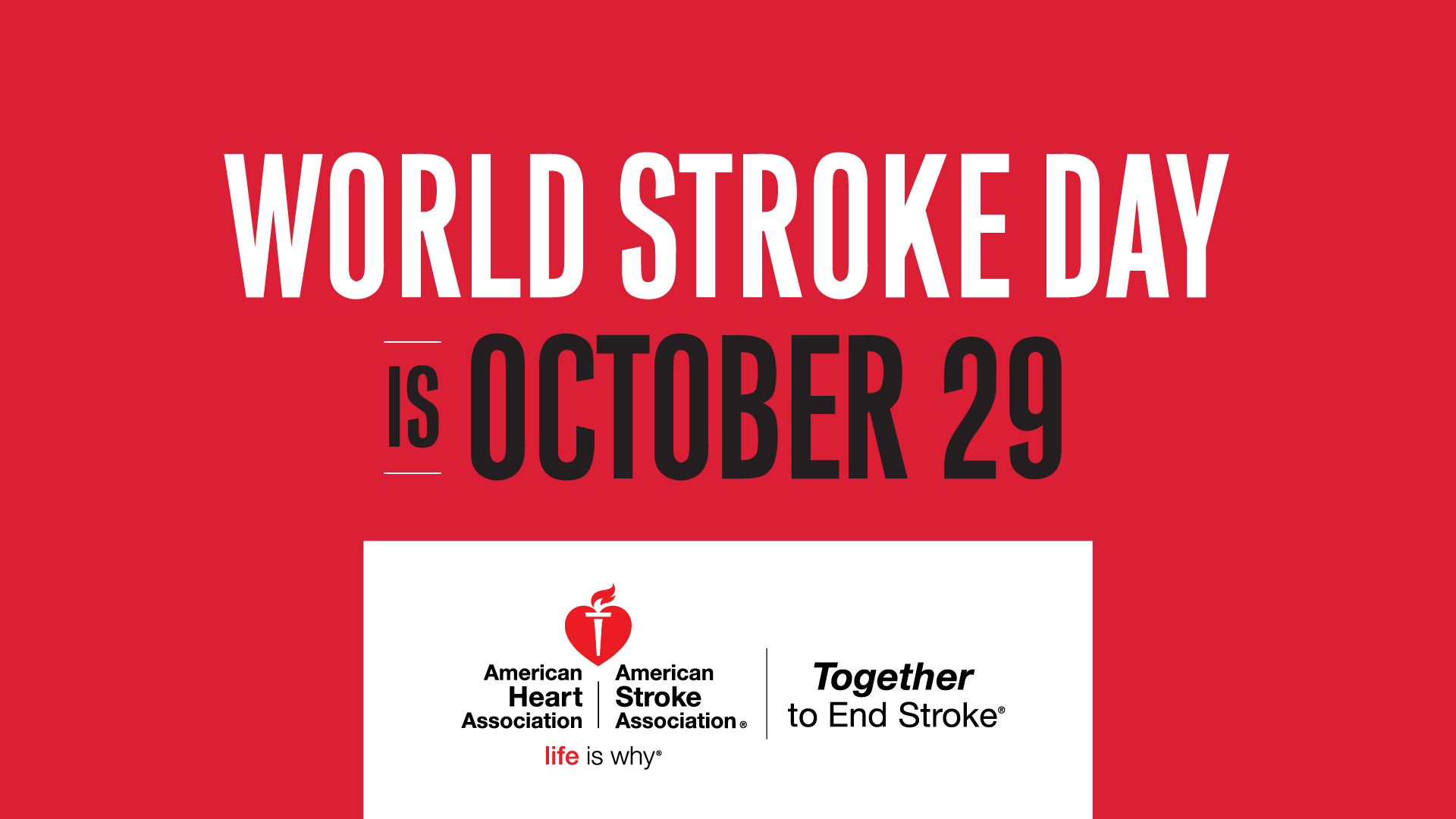 World Stroke Day is October 29th