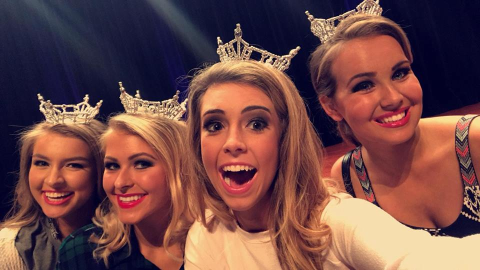 Miss Greater Little Rock's Outstanding Teen Sarah Cate Lay, Miss Greater Little Rock Jessica Miller, Miss Metro's Outstanding Teen Abigail Davis and Miss Metro Bethany Kasper
