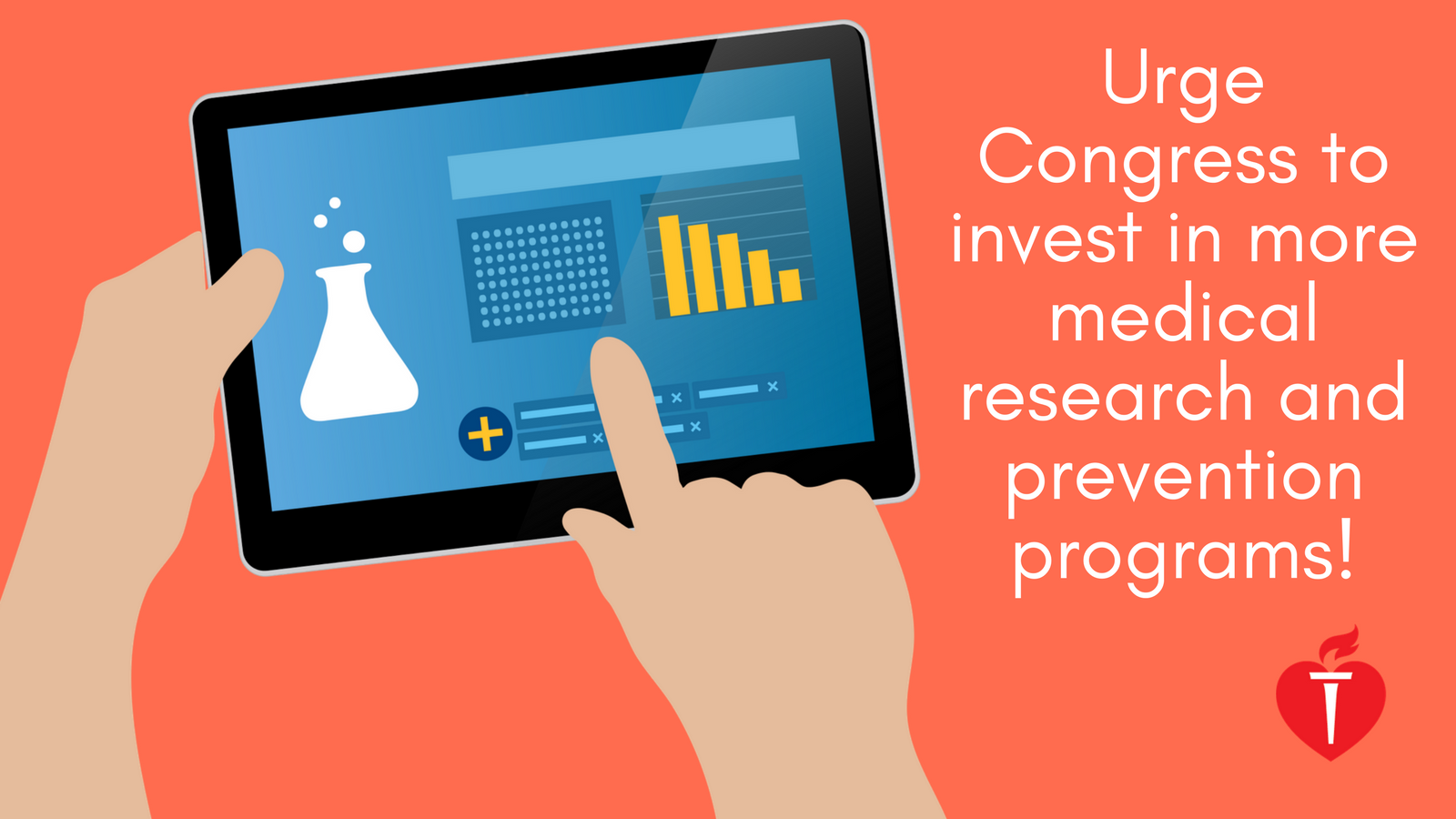 Urge Congress to invest in more medical research and prevention programs