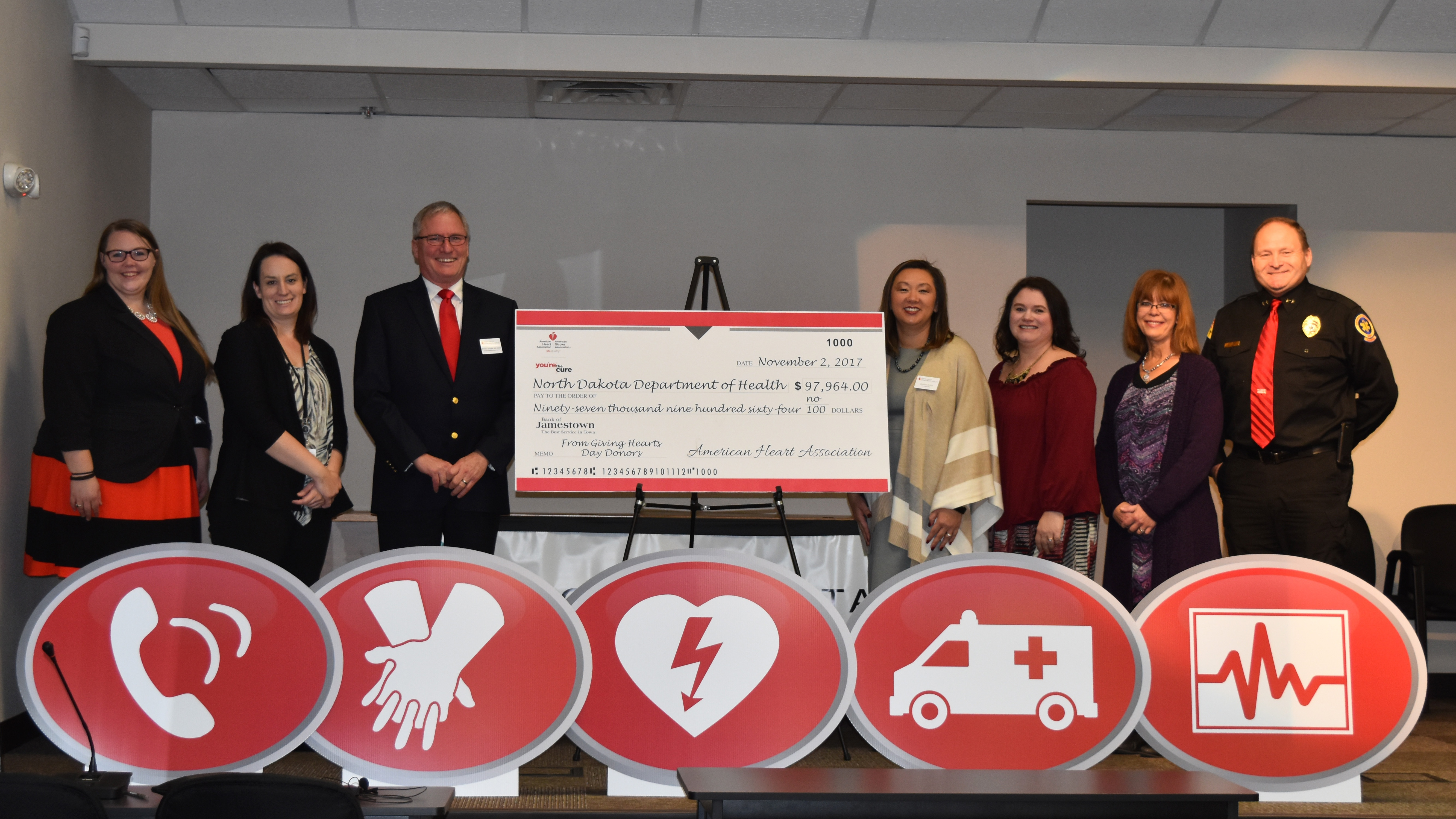American Heart Association grants North Dakota Department of Health $97,964  for Cardiac Ready Communities