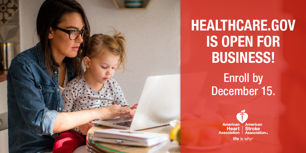 Healthcare.gov is open for business! enroll by December 15th.