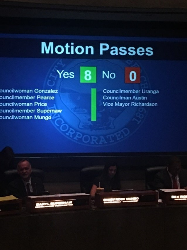 Image of City Council vote