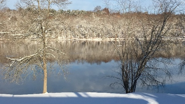 A picturesque image of a snowy environment.