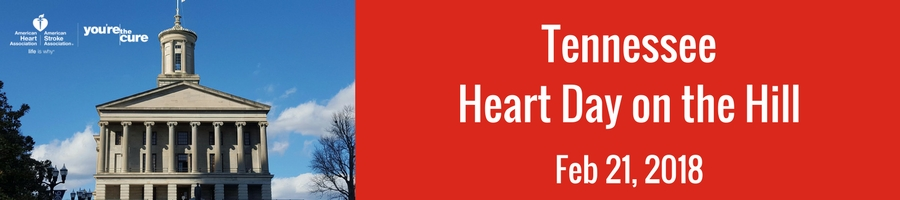 Tennessee Heart Day on the Hill will be on February 21.