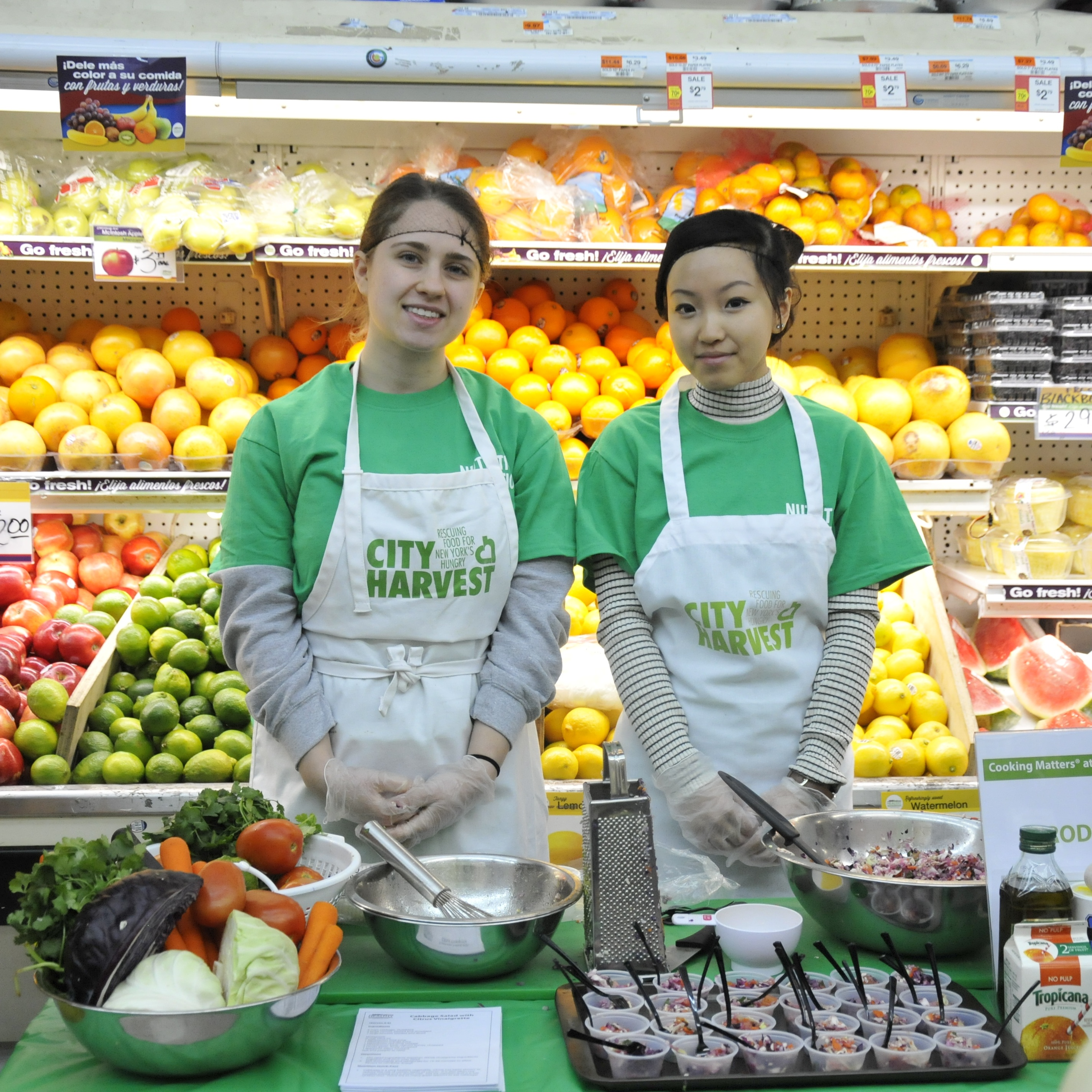 City Harvest Partners at the supermarket.
