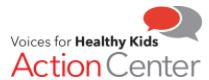 Voices for healthy kids action center logo