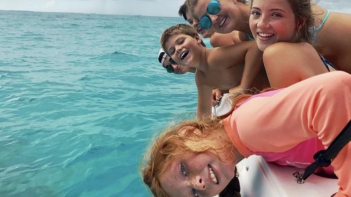 Wigginton Family on a boat
