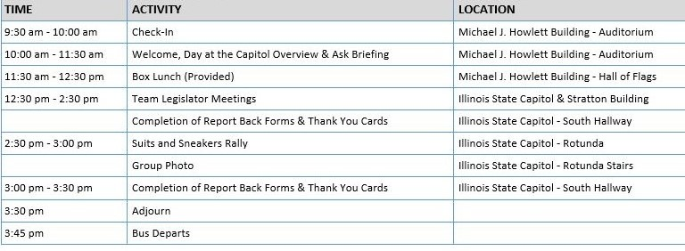 Day at the Capitol Schedule
