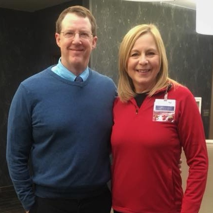 Photo is of Brian Krannawitter, Government Relations Director for Nebraska and Jill Duis, You're the Cure Advocate