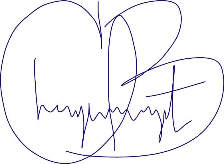 Cheyenne's signature