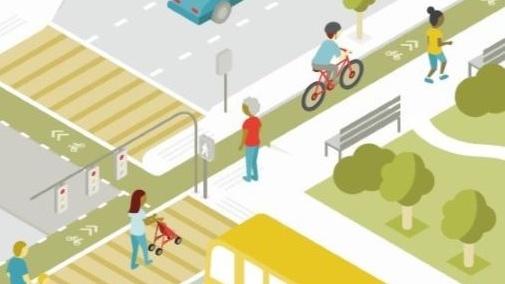 Rendering of Complete Street