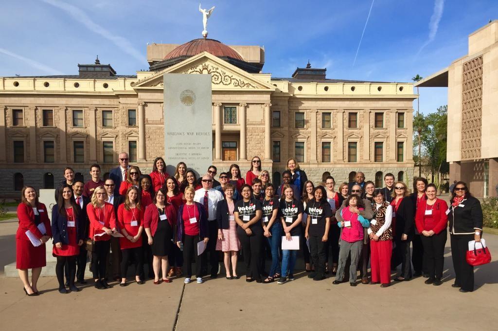 Group Photo at Heart at Capitol 2017