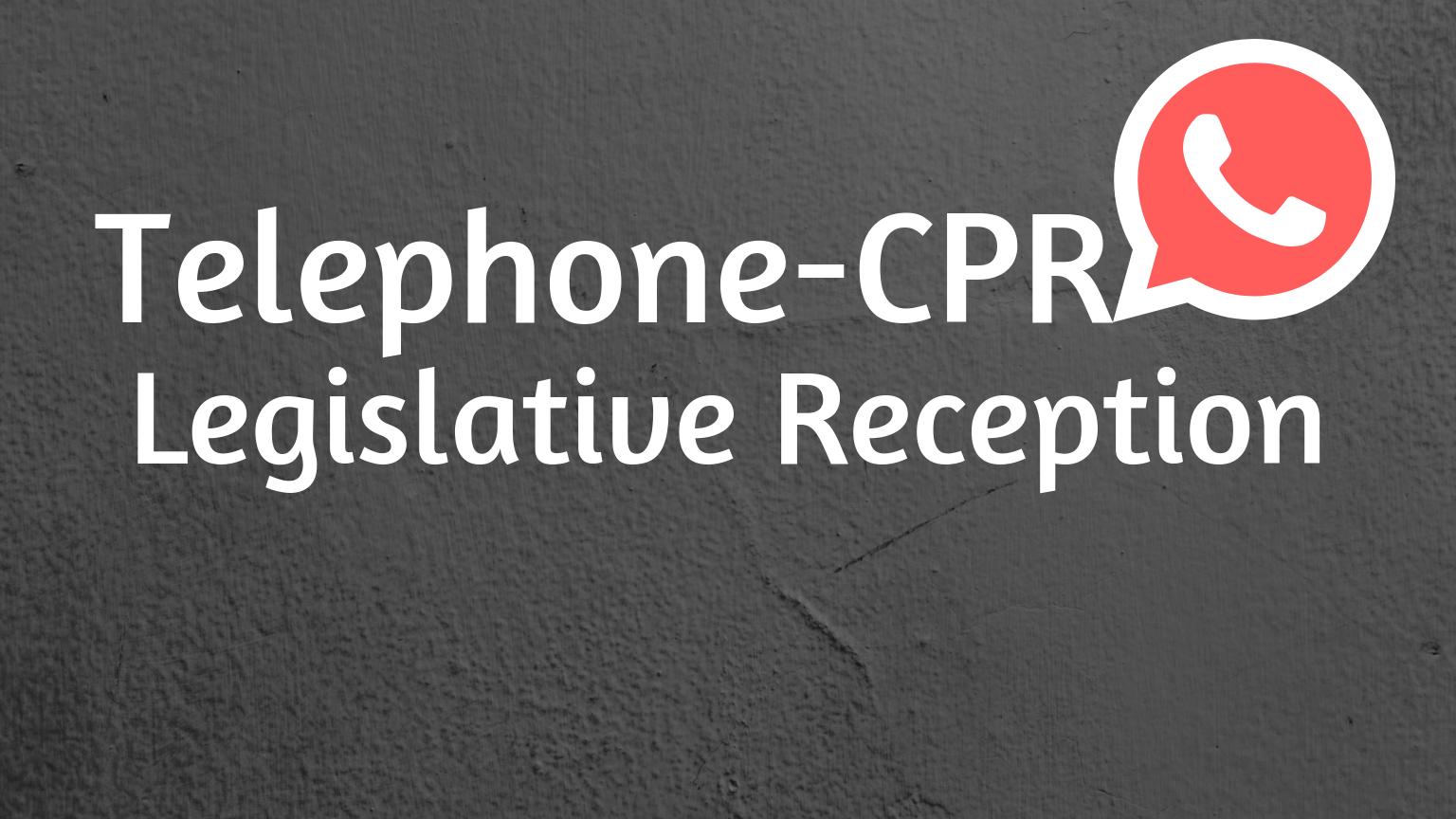 TCPR Legislative Reception