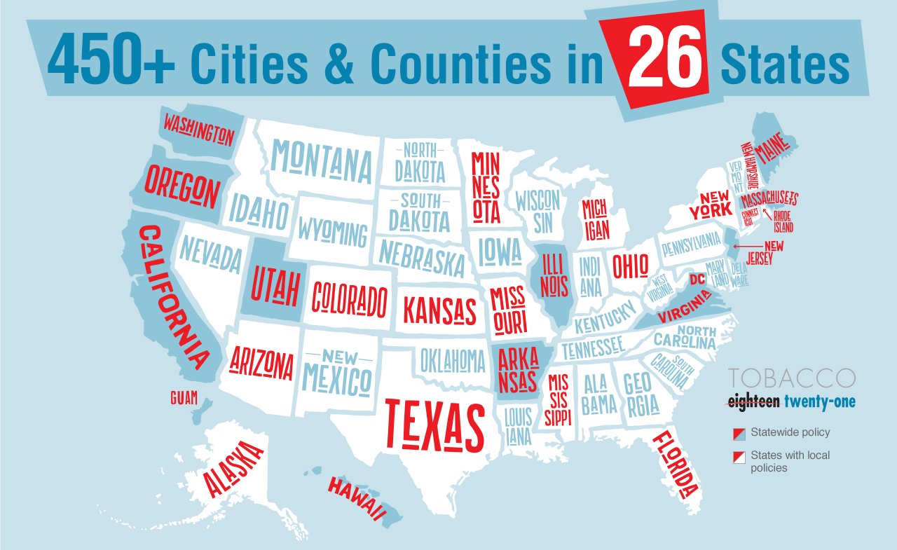 450 Cities and Counties in 26 States