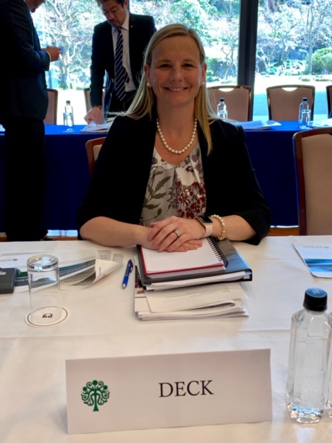 Lisa Deck at table