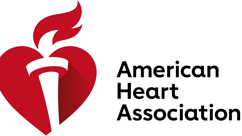 The American Heart Association Heart and Torch logo with the organizations name next to it