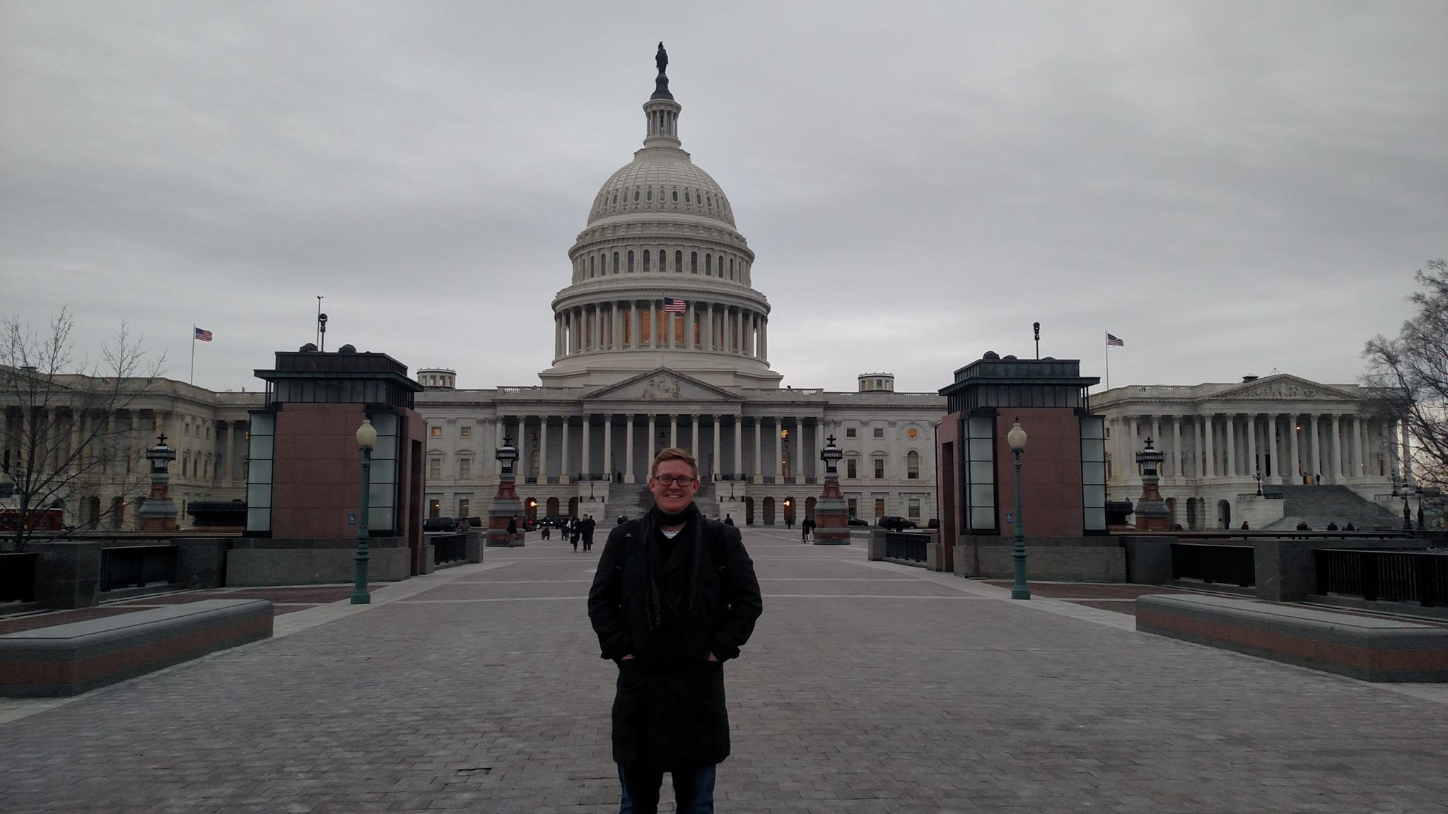 Jacob standing in front of the US Capitol.