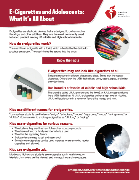E-Cigarettes and Adolescents: What It's All About