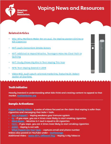 E-cigarette News & Resources Infographic