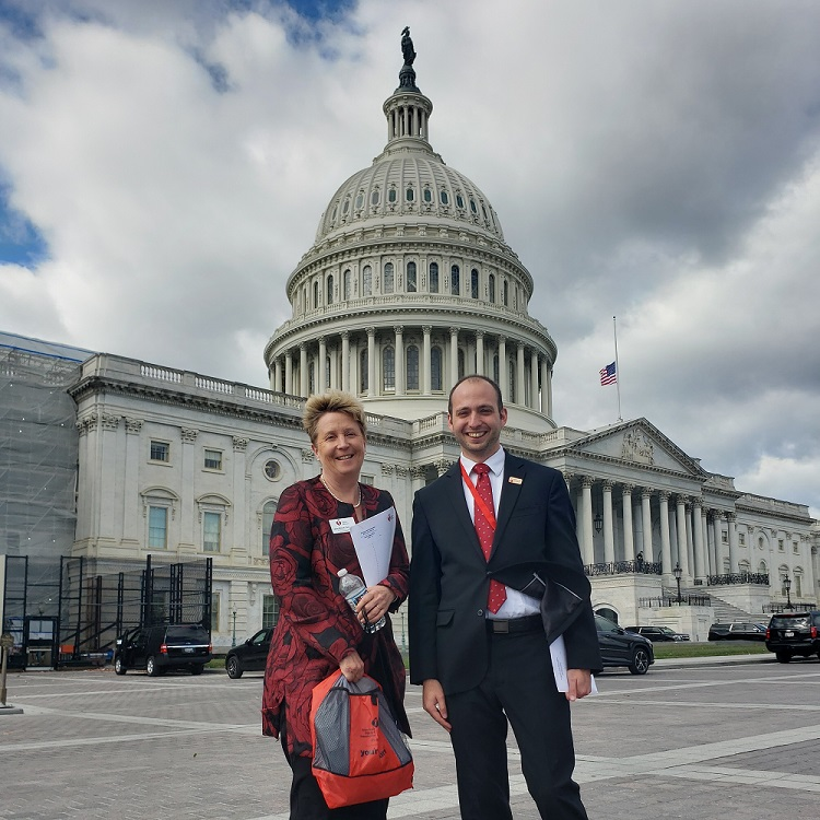 Ben and Laurie at the US Capitol