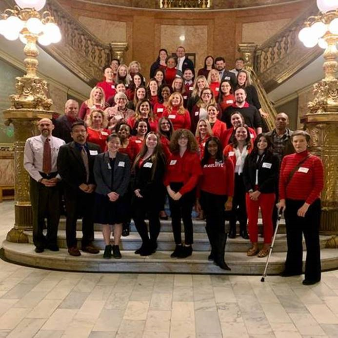 Colorado Go Red at the Capitol