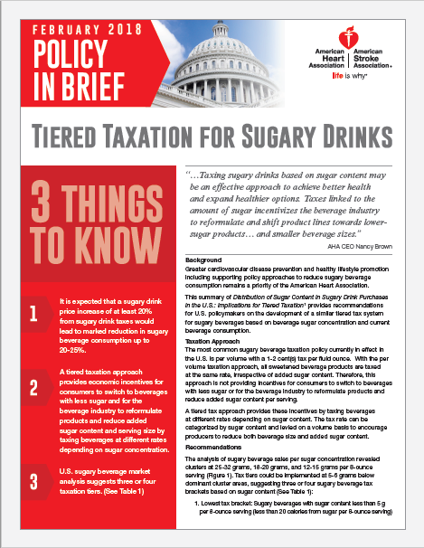 AHA Tiered Taxation Policy in Brief