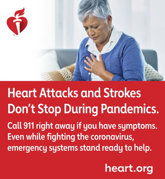 Heart Attacks and Strokes Don't Stop During Pandemics.