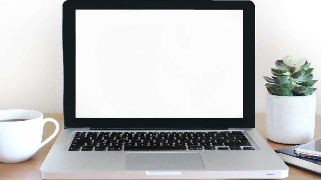 A laptop on a desk