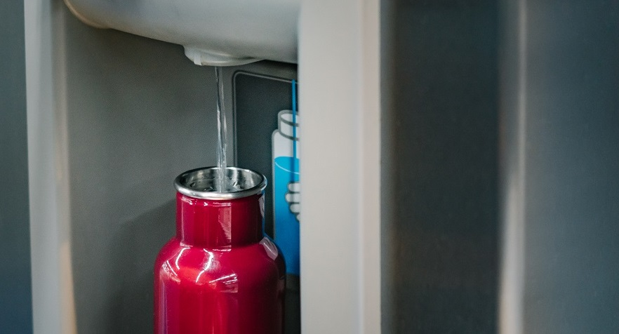touchless water bottle filling station