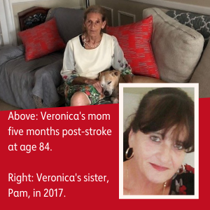 Veronica's mom and sister