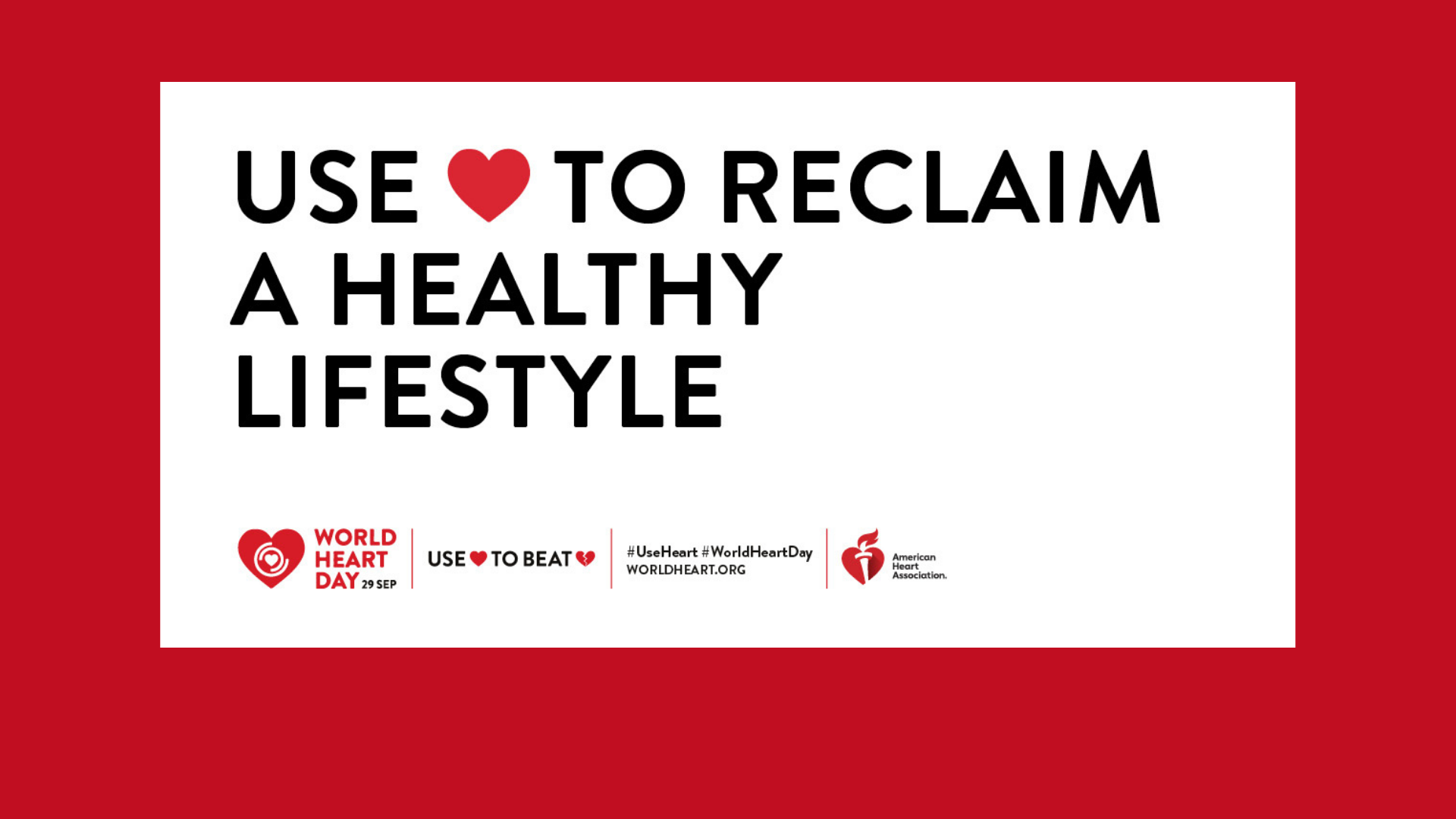 world heart day healthy lifestyle