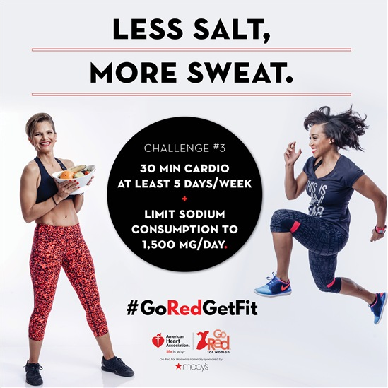 Less Salt more sweat infographic