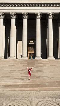 Braelynn on Capitol steps