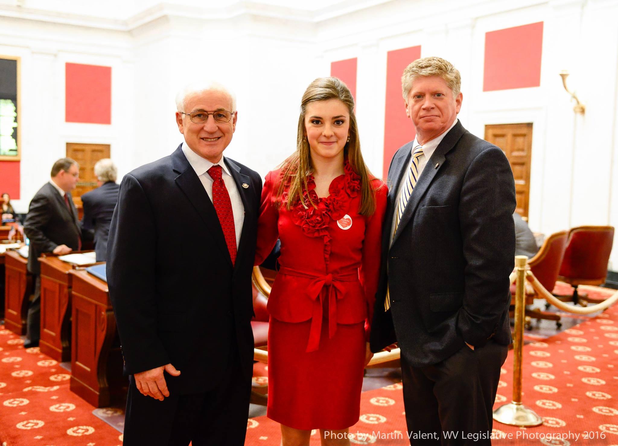 Braelynn Neely on Senate Floor