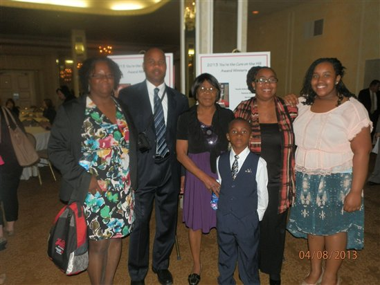 Yolanda Dickerson with her family