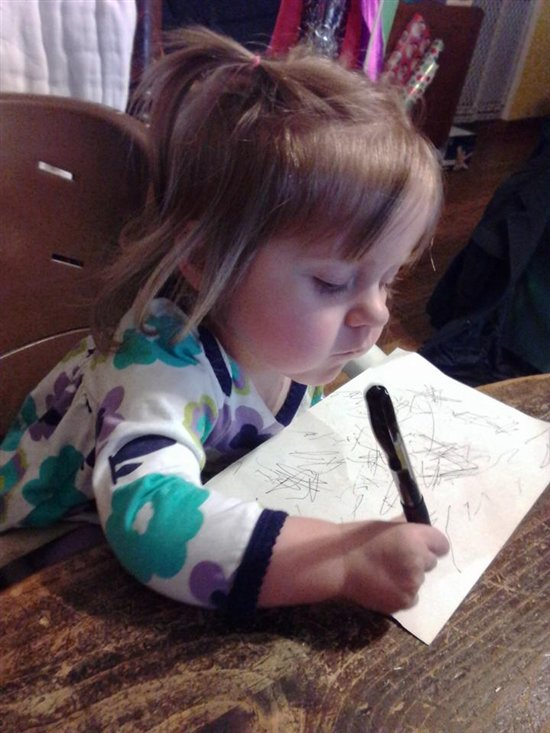 Iryl drawing a picture