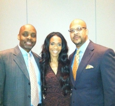 Dr. Richard Benson (left) with Michelle Williams (formally from Destiny's Child) and Dr. Rani Whitfield (the hip hop doc), both National Power To End Stroke Ambassadors
