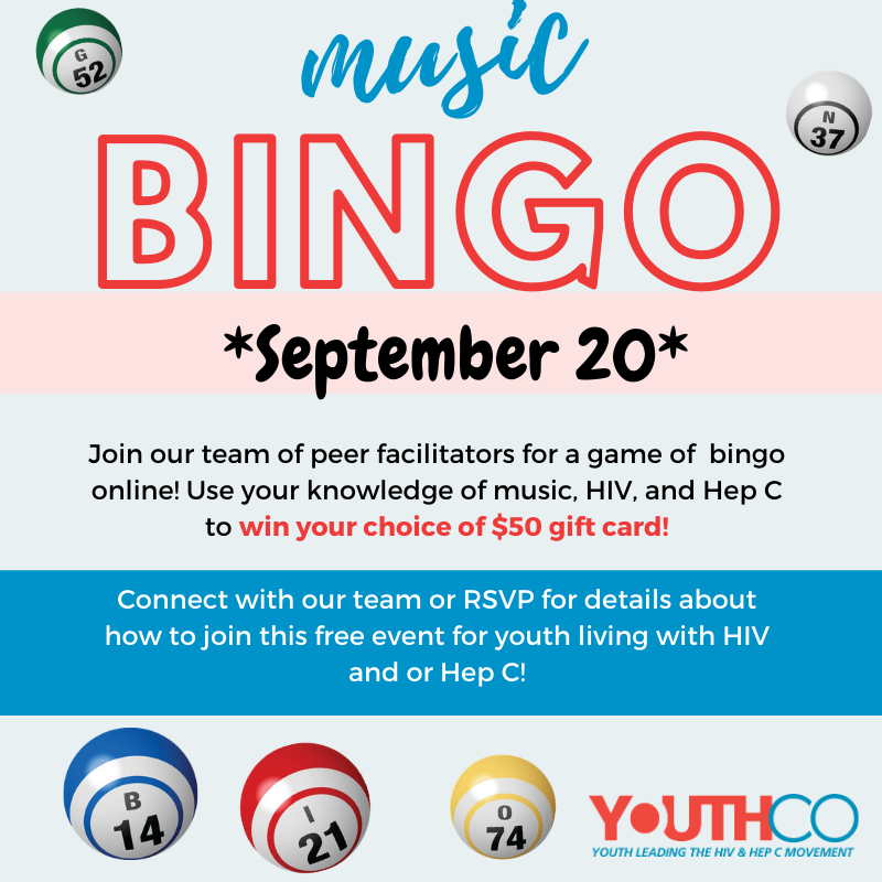 Music Bingo   Sept 20