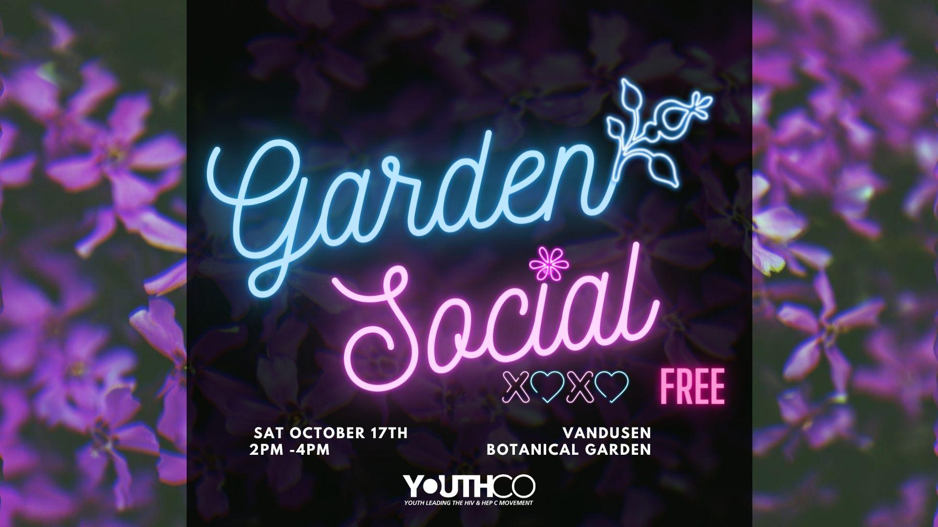 Garden Social Event Banner