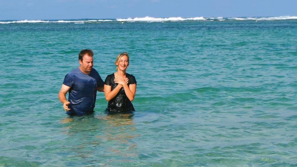 Jakayla being baptised during a local YFC mission trip last year.