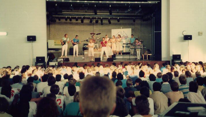 The Travellers performing at a High School in the mid 80's. What are your Youth for Christ memories?
