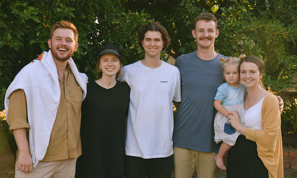 The Mobile Mission Team: Nathan, Jo, Mat, Isaac, Emily and little Heidi. With your support they have stepped out in response to God's call –sacrificing the comforts of home to spend the year on mission and in community together on the road.