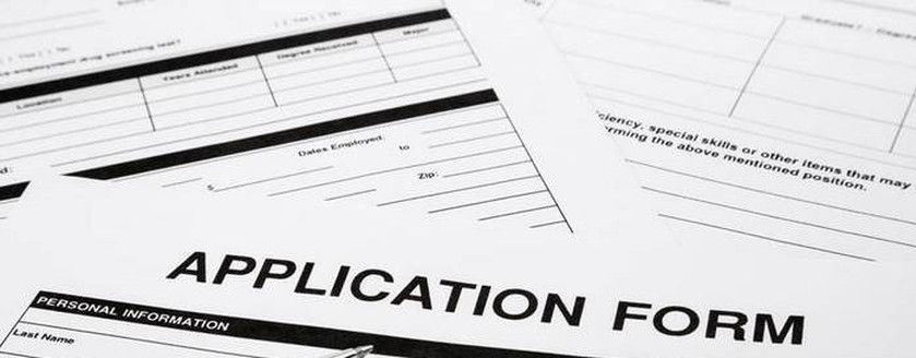 An image of blank application forms