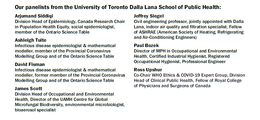 List of the 7 public health scientists and their bios