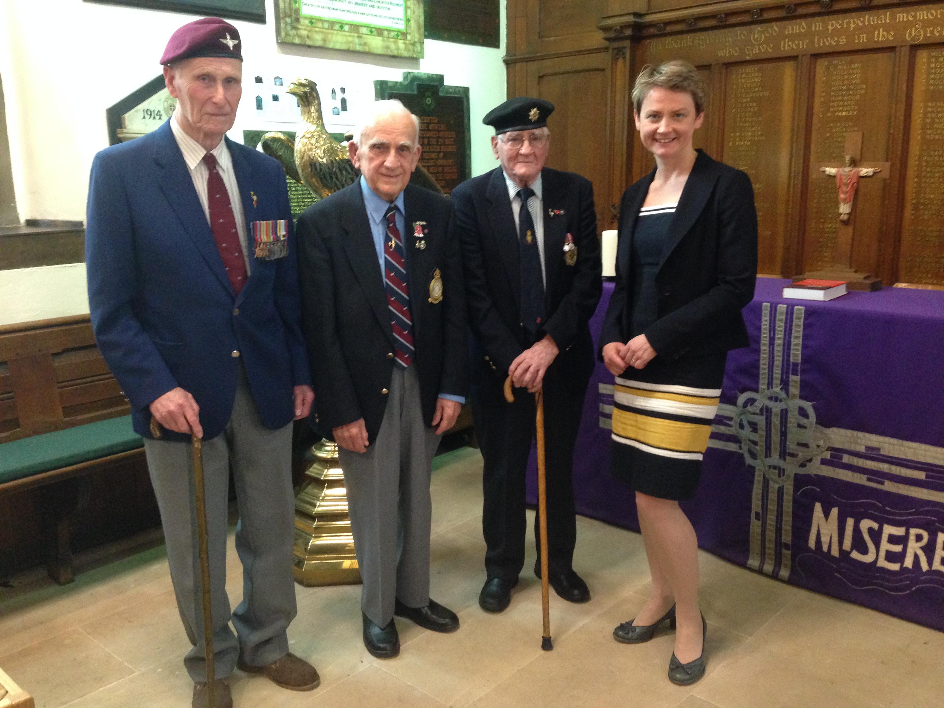 Yvette with WW2 veterans